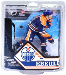 McFarlane Toys NHL Sports Picks Series 32 Action Figure Jordan Eberle (Edmonton Oilers) Blue Jersey