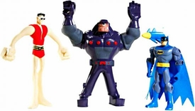 DC Batman Brave and the Bold 3 Piece Mini Figure Stretch Attack Battle Pack [Includes Plastic Man & Rubberneck!]