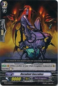 Cardfight Vanguard ENGLISH Demonic Lord Invasion Single Card Common BT03-043EN Decadent Succubus