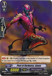 Cardfight Vanguard ENGLISH Demonic Lord Invasion Single Card Common BT03-045EN Poet of Darkness, Amon