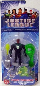 Justice League Cyber Trakkers Green Lantern Vs. Amberbot Action Figure