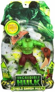 Incredible Hulk Movie Action Figure Shield Smash Hulk
