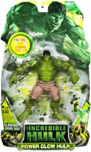 Incredible Hulk Movie Action Figure Power Glow Hulk