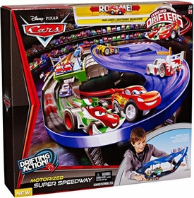 Disney / Pixar CARS Movie Micro Drifters Motorized Super Speedway