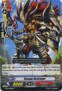 Cardfight Vanguard ENGLISH Demonic Lord Invasion Single Card Common BT03-058EN Savage Destroyer
