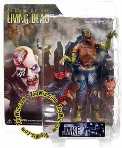 Attack of the Living Dead (Afterlife) Mezco Toyz Zombie Action Figure Jake (Dark Skin)