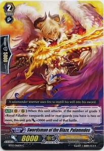 Cardfight Vanguard ENGLISH Demonic Lord Invasion Single Card Common BT03-066EN Swordsman of the Blaze, Palamedes