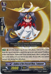 Cardfight Vanguard ENGLISH Demonic Lord Invasion Single Card Common BT03-073EN Goddess of the Crescent Moon, Tsukuyomi