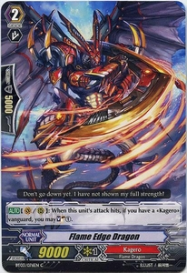 Cardfight Vanguard ENGLISH Demonic Lord Invasion Single Card Common BT03-076EN Flame Edge Dragon