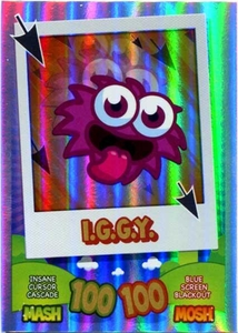 Topps Moshi Monsters Mash Up! Trading Card Game Rainbow Foil Single Card I.G.G.Y.