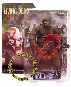 Attack of the Living Dead (Afterlife) Mezco Toyz Zombie Action Figure Earl [Dark Skin]