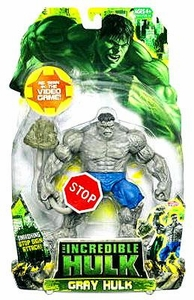 Incredible Hulk Movie Action Figure Gray Hulk with Stop Sign