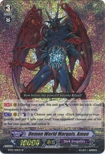 Cardfight Vanguard ENGLISH Demonic Lord Invasion Single Card SP Rare BT03-S01EN Demon World Marquis, Amon