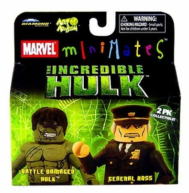 Marvel MiniMates The Incredible Hulk Movie 2-Pack Battle Damaged Hulk & General Ross Variant
