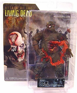 Attack of the Living Dead (Afterlife) Mezco Toyz Zombie Action Figure Earl [Dark Skin Eyeball Popping Out Variant]