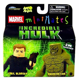 Marvel MiniMates The Incredible Hulk Movie 2-Pack Emil Blonsky & Abomination