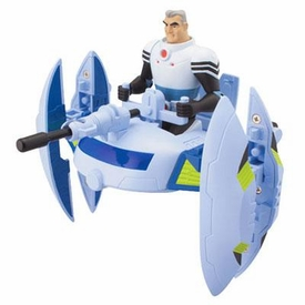 Ben 10 Ultimate Alien Utility Vehicle Plumber Space Ship with Grandpa Max 4 Inch Action Figure