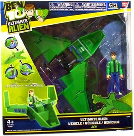 Ben 10 Ultimate Alien Utility Vehicle Wing Fighter with Ben 4 Inch Action Figure
