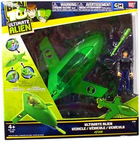 Ben 10 Ultimate Alien Utility Vehicle Rocket Pod with Kevin 4 Inch Action Figure