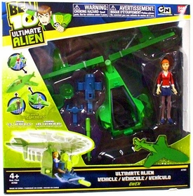 Ben 10 Ultimate Alien Utility Vehicle Vortex Helicopter with Gwen 4 Inch Action Figure