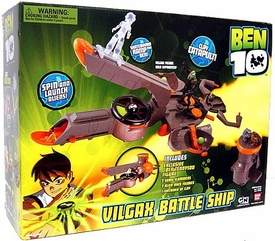 Ben 10 Deluxe Vehicle Playset Vilgax Ship Battle Ground Planet [Exclusive Ben Tennyson Action Figure!]