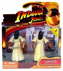 Indiana Jones Movie Deluxe Action Figure Cairo Thugs 2-Pack Damaged Package, Mint Contents!