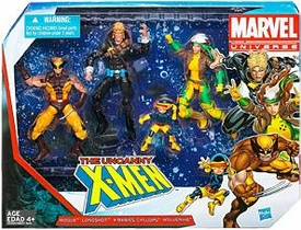 Marvel Universe 3.75 Inch Action Figure 3-Pack Uncanny X-Men [Rogue, Longshot, X-Babies Cyclops & Wolverine]