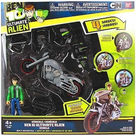 Ben 10 Ultimate Alien Utility Vehicle Motorcycle with Ben 4 Inch Action Figure
