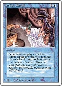 Magic the Gathering Revised Edition Single Card Rare Hurkyl's Recall Slightly Played Condition