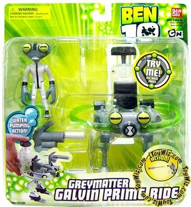 Ben 10 Alien Ship Transforming Vehicle Greymatter with Galvin Prime Ride
