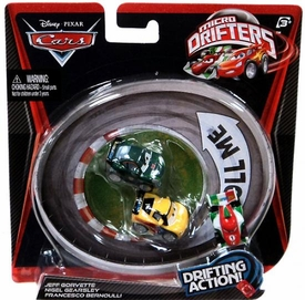 Disney / Pixar CARS Movie Micro Drifters 3-Pack Jeff Gorvette, Nigel Gearsley & Francesco Bernoulli