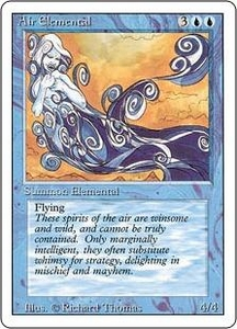 Magic the Gathering Revised Edition Single Card Uncommon Air Elemental