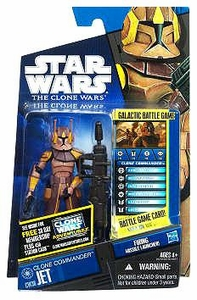 Star Wars 2011 Clone Wars Action Figure CW No. 38 Clone Commander Jet