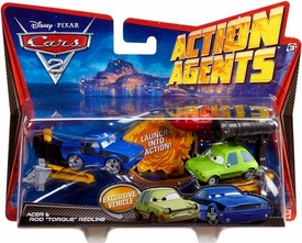 Disney / Pixar CARS 2 Movie Action Agents 2-Pack Acer & Rod