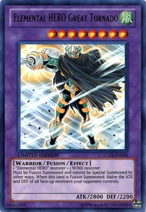 YuGiOh GX Legendary Collection 2 Single Card Ultra Rare LC02-EN010 Elemental HERO Great Tornado