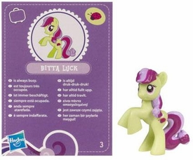My Little Pony Friendship is Magic 2 Inch PVC Figure Series 2  Bitta Luck [Purple Card]