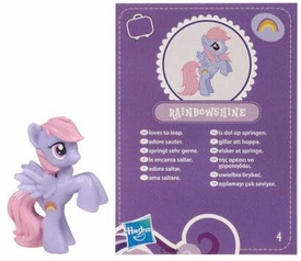 My Little Pony Friendship is Magic 2 Inch PVC Figure Series 2 Rainbowshine [Purple Card]