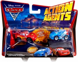 Disney / Pixar CARS 2 Movie Action Agents 2-Pack Raoul CaRoule & Lightning McQueen