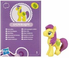 My Little Pony Friendship is Magic 2 Inch PVC Figure Series 2 Goldengrape [Purple Card]
