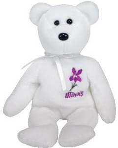 Ty Beanie Baby Illinois Violet Flower Bear