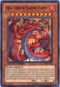 YuGiOh GX Legendary Collection 2 Single Card Ultra Rare LC02-EN001 Uria, Lord of Searing Flames