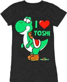 Nintendo Youth Medium T-Shirt I Love Yoshi