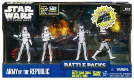 Star Wars 2011 Clone Wars Battle Pack Army of the Republic [4x Clone Troopers]