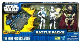 Star Wars 2011 Clone Wars Battle Pack Hunt for Grievous [Captain Rex, General Grievous & Clone Trooper Kix]