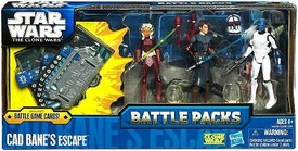 Star Wars 2011 Clone Wars Battle Pack Cad Bane's Escape [Cad Bane, Ahsoka Tano & Anakin Skywalker]