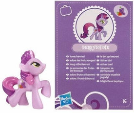 My Little Pony Friendship is Magic 2 Inch PVC Figure Series 2 Berryshine [Purple Card]