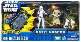 Star Wars 2011 Clone Wars Battle Pack Stop the Zillo Beast [Yoda, Mace Windu & Clone Trooper]