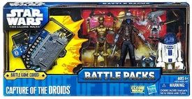 Star Wars 2011 Clone Wars Battle Pack Capture the Droids[R2-D2, C-3PO, TODO 360 & Cad Bane]