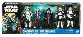 Star Wars 2011 Exclusive Action Figure 5-Pack Force Unleashed Sith & Imperial Troopers [Starkiller, Darth Phobos, Evo Trooper, Navy Commando & Officer]