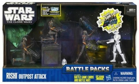 Star Wars 2011 Action Figure Battle Pack Rishi Moon Outpost Attack